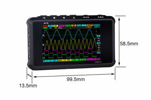 Black Pocket Sized Digital Oscilloscope Metal Handheld Scope Ds213 Ds 213 Nano A