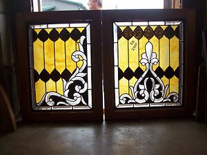 3 Pc Set Of Elaborate Windows Beautiful Bevel Cuts Magnificent Design Sg 1287