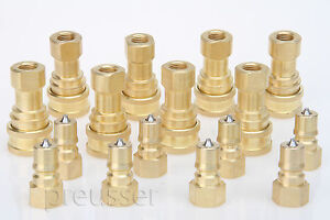 Carpet Cleaning 1 4 Quick Disconnect Coupler 8 Sets sandia Mytee Edic Qd