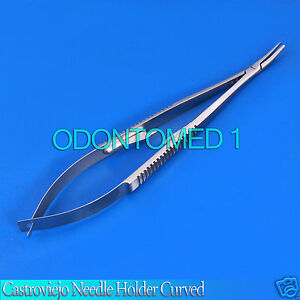 6 Castroviejo Needle Holder Surgical Dental Serreted 5 5 Curved