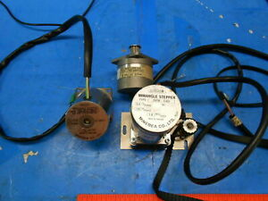 3 Pc Lot Of Astrosyn Minebea Miniangle Stepper Motors Electronics