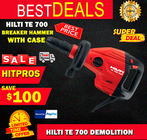 Hilti Te 700 Demolition Breaker Hammer New With Case Fast Ship
