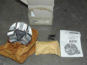 Unused 6 5 Rohm Kfd Item 46730 3 Jaw Power Chuck