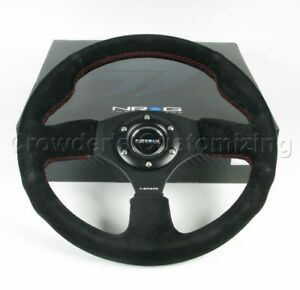 Nrg Steering Wheel 12 Black Suede 320 Mm