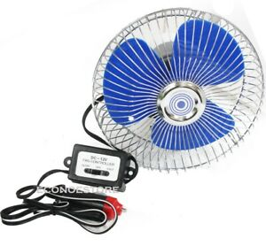 12 Volt Auto Cooling Ocillating Air Fan For Truck Car Boat 2 sp