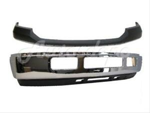 05 07 Ford Super Duty F250 F350 Front Bumper Up Pad Face Bar Chr Valance W o Ho