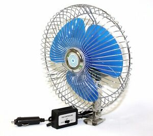 8 12 Volt Ocillating Auto Cooling Air Fan For Truck Car Boat W 2 Speed Control
