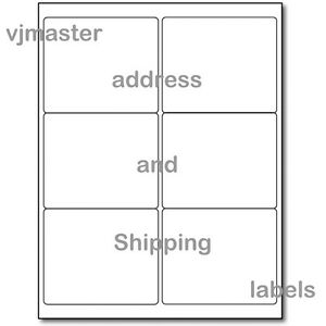 600 Address And Shipping Labels 6 Labels Per Sheet 4 x3 33 Per Label 100 Sheets