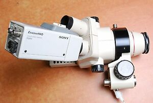 Olympus Sz40 Sz4045chi Stereo Microscope With Sony Exwavehad Digital Color Video