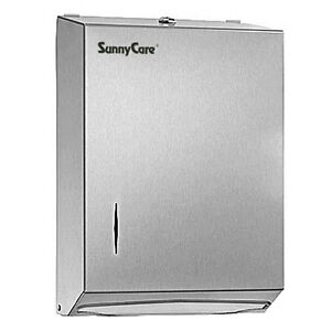Sunnycare Stainless Steel Multi fold Paper Towel Dispenser