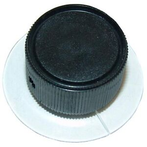 Knob Clear W black Center 1 1 8 Dia For Neico Broiler 930 940 950 962 980 221513