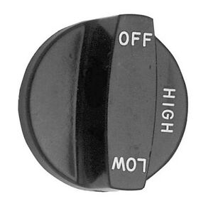 Knob 2 1 2 Dia Off high low Black For Southbend Scb Broiler Mr Mra Scbc 221232