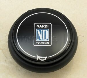 Nardi Steering Wheel Horn Button Type B Black With Nardi Logo 4041 01 0109