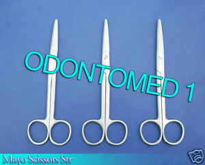 12 Mayo Scissors 6 Straight Surgical Dental Veterinary Instruments