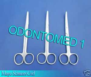 12 Mayo Scissors 6 Curved Surgical Dental Veterinary Instruments