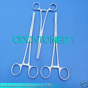 6 Stainless Steel Rochester Pean Hemostat Locking Forcep 12 Curved Tip