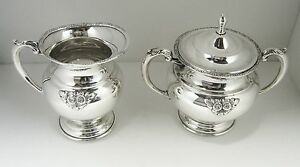 Japanese Sterling Silver 950 Creamer And Sugar Bowl W Lid Set Mint