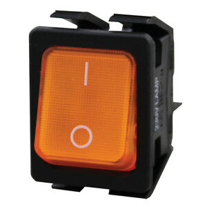 Rocker Switch Lighted Amber 20a 277vac For Prince Castle Toaster 428 bx 421992