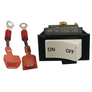 Rocker Switch On off 3a 250v 6a 125v Dpst For Keating Fryer 058328 032242 421527