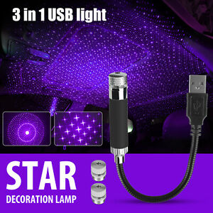 Usb Car Interior Led Roof Home Atmosphere Sky Lamp Projector Star Night Light