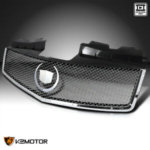 Fits 2003 2007 Cadillac Cts Metal Mesh Chrome Front Bumper Hood Grill Grille