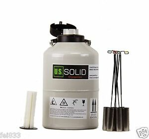 6 L Liquid Nitrogen Container Cryogenic Tank Ln2 Dewar 6 Canisters U s solid
