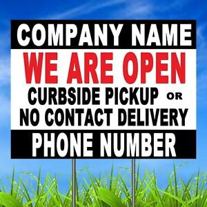 Lot Of 10 Business Yard Sign With Ground Stakes Personalized Lawn Signs