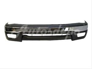 Bundle For 01 04 Tacoma 2wd Prerunner Front Bumper Chr Bar Filler Pad Valance 3p