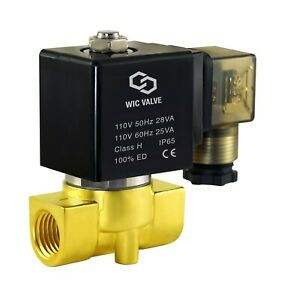 3 8 Brass Fast Response Direct Acting Electric Solenoid Valve 110v Ac Nc