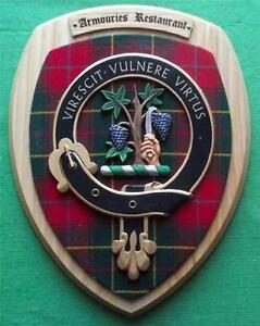 Large 12 5 Vintage Scottish Clan Burnett Armouries Restaurant Plaque Shield