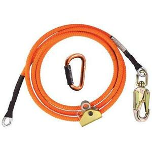 Arborist Climbers 8 Wire Core Flipline Kit Includes Carabiner And Adjuster New