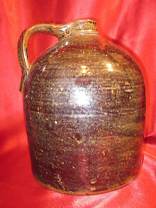 Old Stoneware Crock With Handle