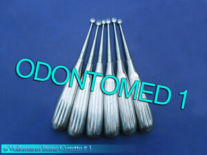 6 Medical Surgical Curette Bone Volkmann 1 Surgical Instruments