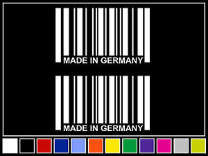 2 4 25 Made In Germany Barcode Decals White Stickers Euro