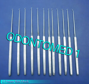 12 Frazier Skin Hook Neuro Surgical Dental Instruments