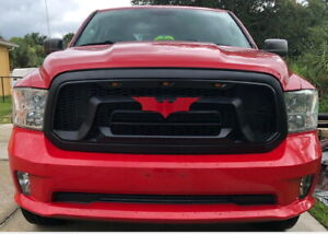Red Batman Custom Grille Emblem New Chevy Ford Dodge Toyota Gmc Jeep Bmw