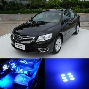 8x Blue Lights Led Interior Package Kit For 2007 2011 Toyota Camry