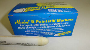 1 Single Stick Markal B Tire Repair Crayon Marker Paint Stick Paintstik White