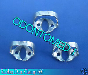 12 Endodontic Rubber Dam Clamp 60 Surgical Dental Instruments
