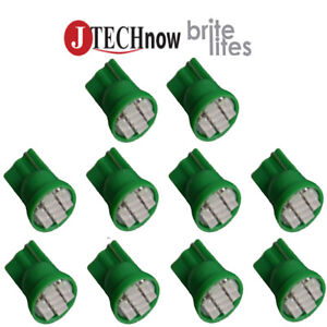 10x T10 8 smd Green Led Bulb Interior Instrument License W5w 194 168 2825 158