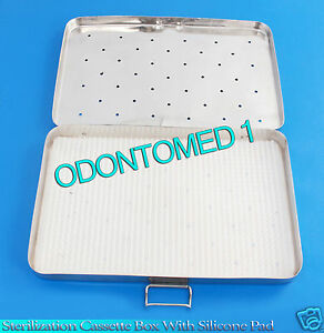 Sterilization Cassette Box 4 X 8 With Silicone Pad For Surgical Instruments