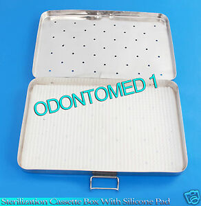 Sterilization Cassette Box 6 X 12 With Silicone Pad For Surgical Instruments