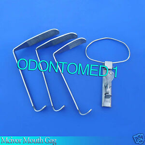 3 Mcivor Mouth Gag Surgical Dental Anesthesia Instruments