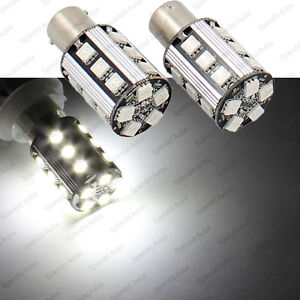 White Error Free No Resistor Required 1156 7506 7527 Led Turn Signal Light Bulbs