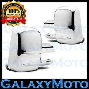 03 15 Chevy Silverado 1500 2500 3500 All Hd Full Towing Mirror Chrome Cover 2013