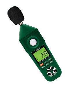 En300 Extech Hygro thermo anemometer light sound Meter
