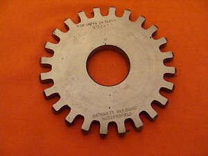 Dathan Gear Cutter Disc Shaper Finishing Non Topping 6 Dp 14 5 Pa 24 T 1 25 Bore