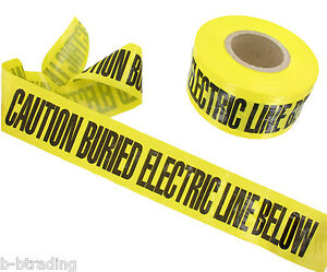 12 Roll Case Caution Buried Electric Line Below Non Detectable Underground Tape