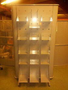 Brand New Double Sided Steel Retail Display Unit W 30 Shelves Made In Italy