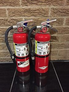 Set Of 2 Fire Extinguisher 5lb 5 Abc New Cert Tag nice